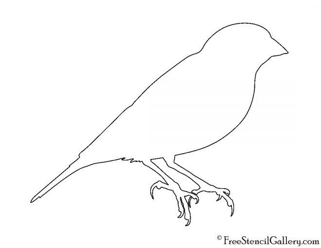 Canary Silhouette Stencil