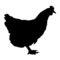 Chicken Silhouette 02 Stencil