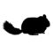 Chinchilla Silhouette Stencil