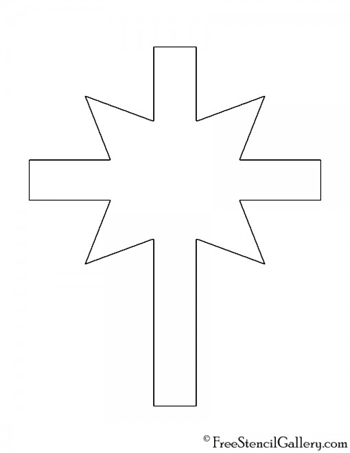 Church of Scientology Cross Stencil