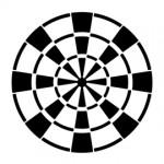 Dartboard Stencil