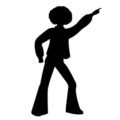 Disco Dancer Silhouette 01 Stencil
