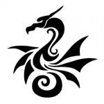 Dragon Tribal Stencil