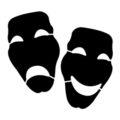 Drama Masks Stencil
