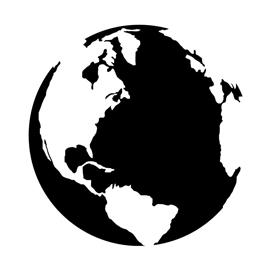 Earth Stencil | Free Stencil Gallery