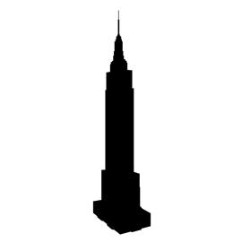 Empire State Building Silhouette Stencil Free Stencil