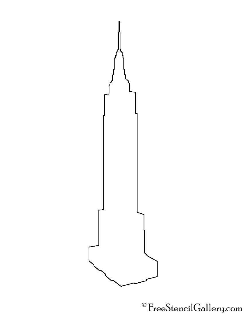 Empire State Building Silhouette Stencil | Free Stencil ...