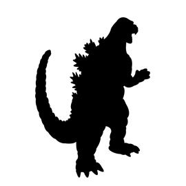 Godzilla Silhouette Stencil Free Stencil Gallery