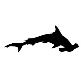 hammerhead shark silhouette stencil free stencil gallery