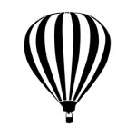 Hot Air Balloon Stencil
