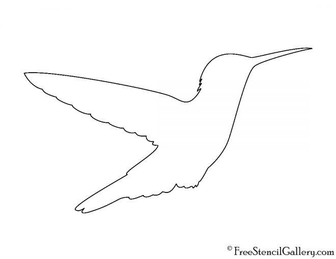 Hummingbird Silhouette Stencil