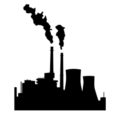 Industrial Factory Silhouette Stencil