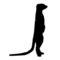 Meerkat Silhouette Stencil