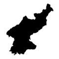 North Korea Stencil
