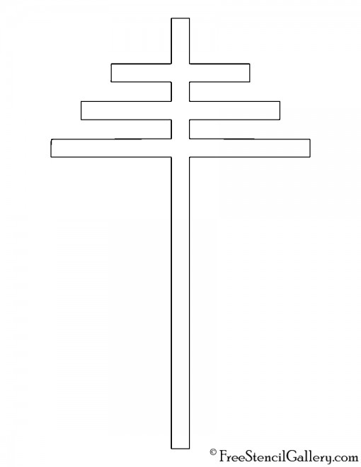 Papal Cross Symbol Stencil