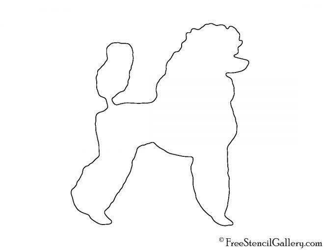 Poodle Silhouette 02 Stencil