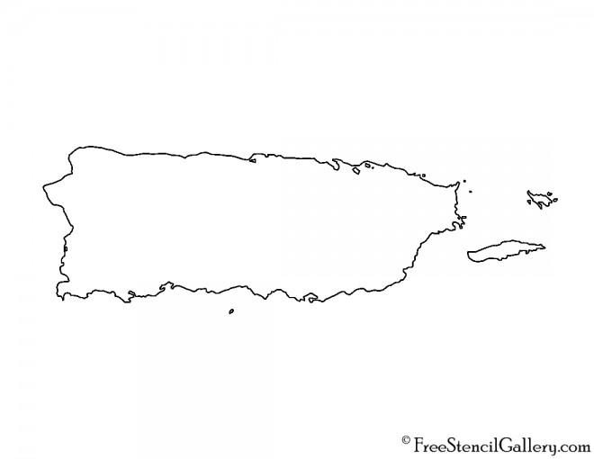 Puerto Rico Stencil