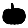 Pumpkin Silhouette Stencil