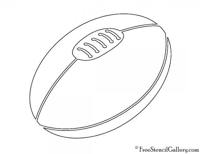 Rugby Ball Stencil