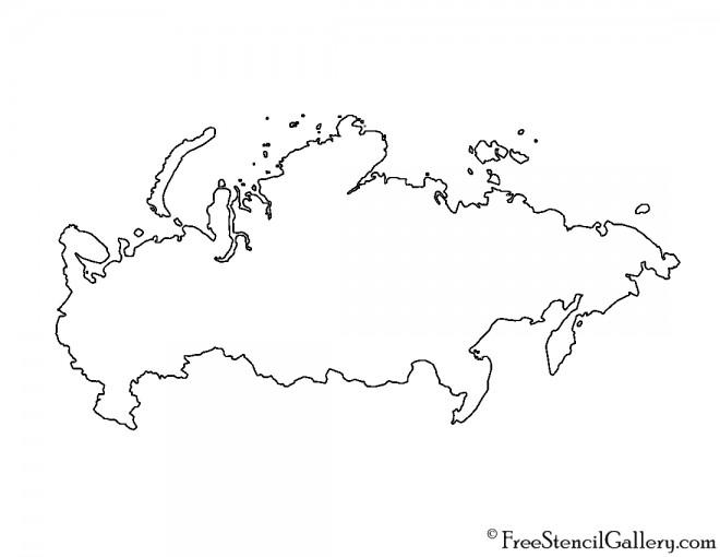 Russia Stencil