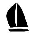 Sailboat Silhouette Stencil