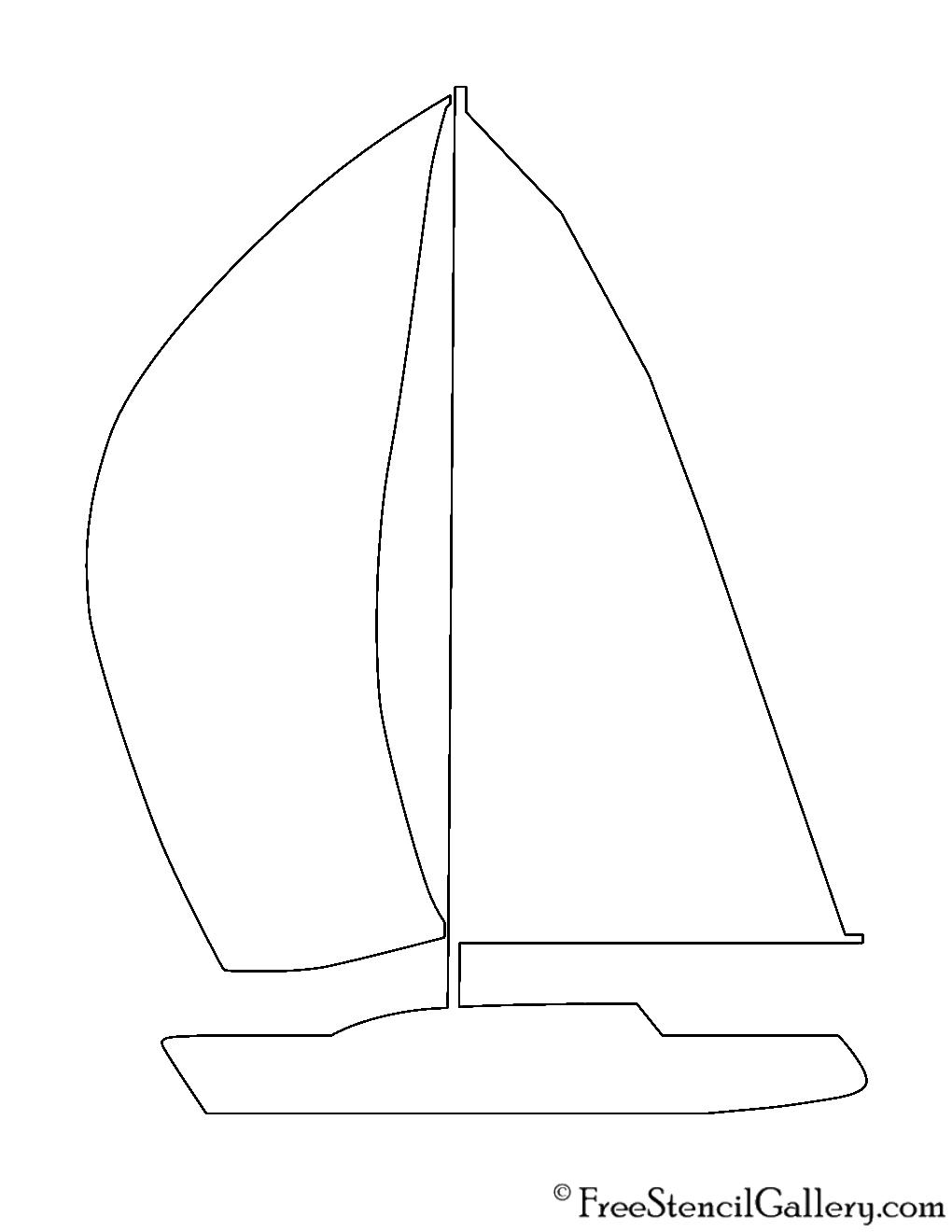 sailboat silhouette stencil | free stencil gallery
