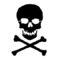Skull and Crossbones Stencil
