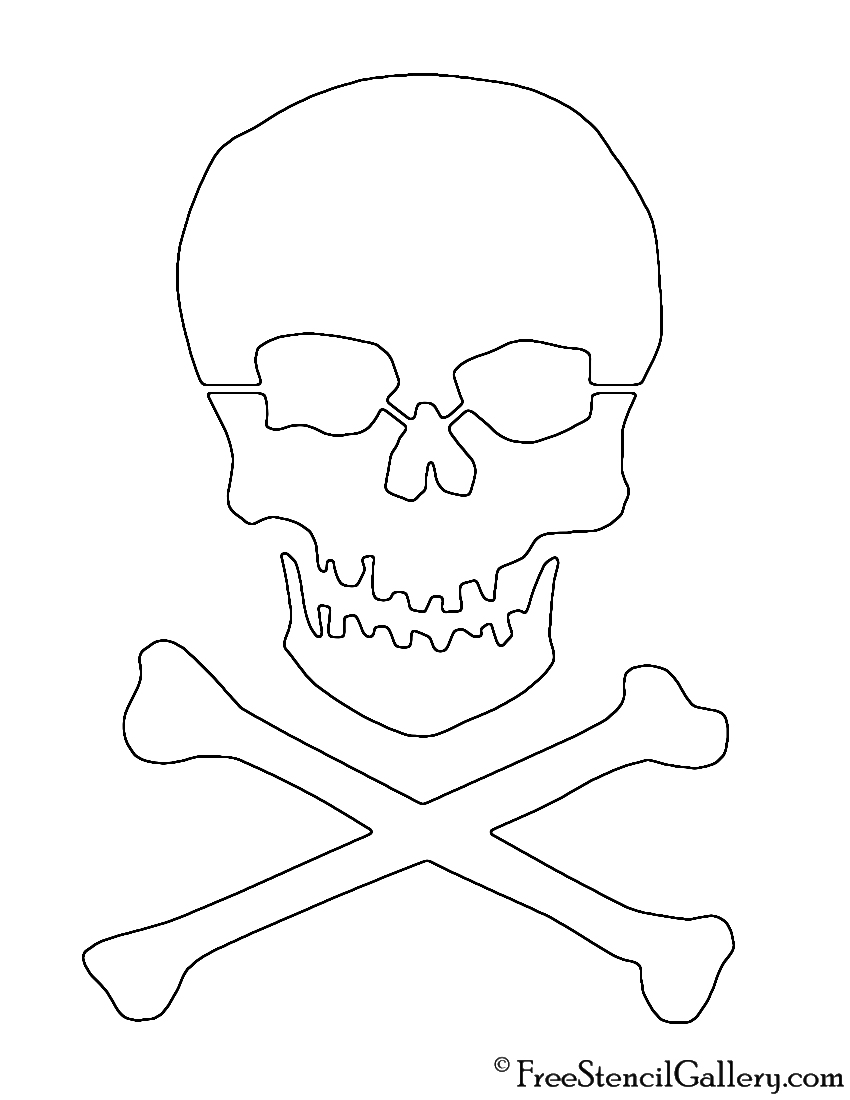 Skull and Crossbones Stencil | Free Stencil Gallery