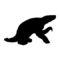 Sloth Silhouette Stencil