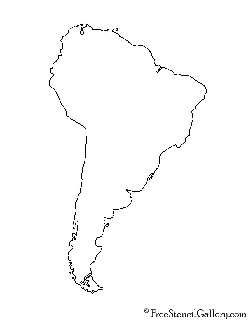 South America Stencil Free Stencil Gallery