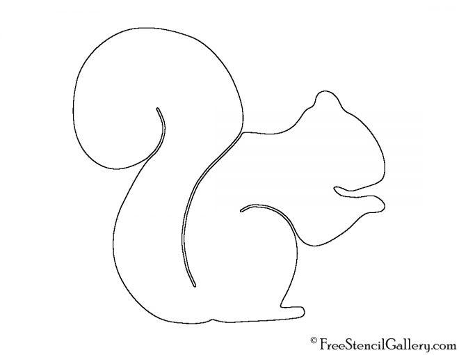 Squirrel Silhouette 02 Stencil | Free Stencil Gallery