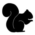 Squirrel Silhouette Stencil