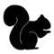 Squirrel Silhouette Stencil