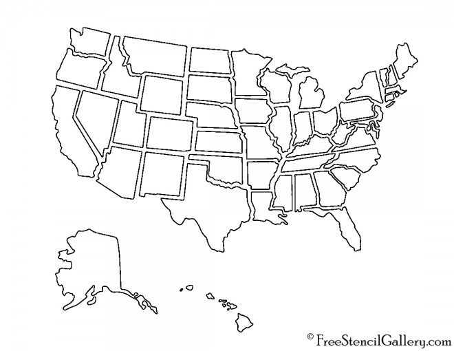 USA 01 Stencil