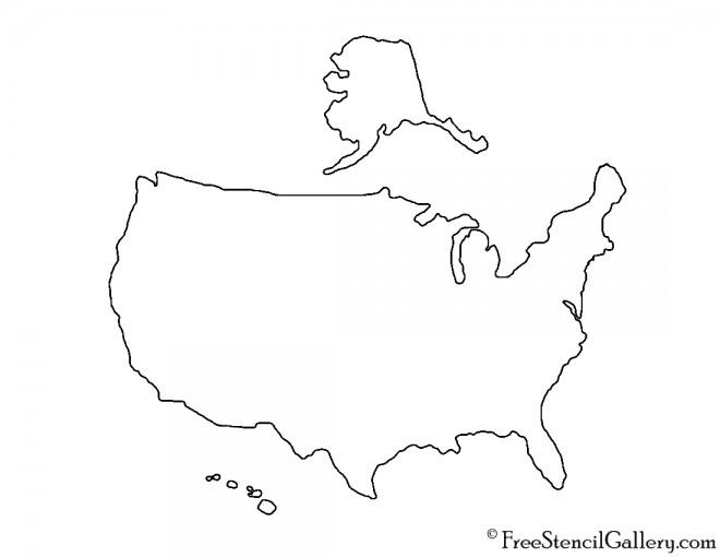 USA 02 Stencil