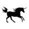 Unicorn Silhouette 01 Stencil