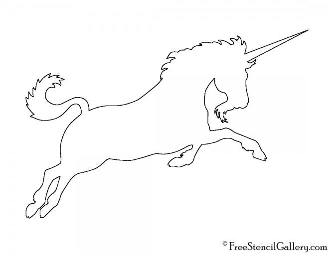 Unicorn Silhouette 02 Stencil