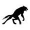 Werewolf Silhouette Stencil