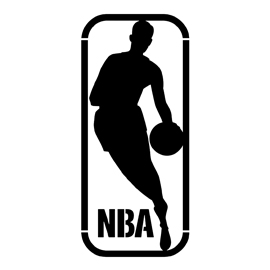 NBA logo stencil | Free Stencil Gallery