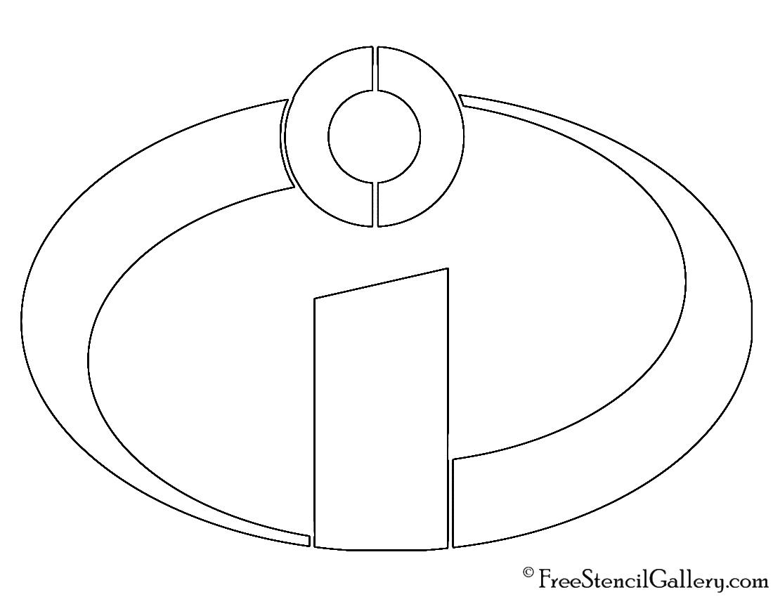 Incredibles Symbol Stencil | Free Stencil Gallery