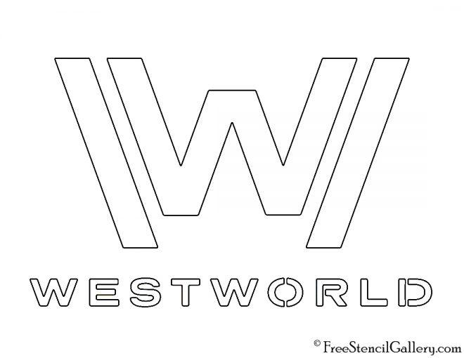 Westworld Logo Stencil