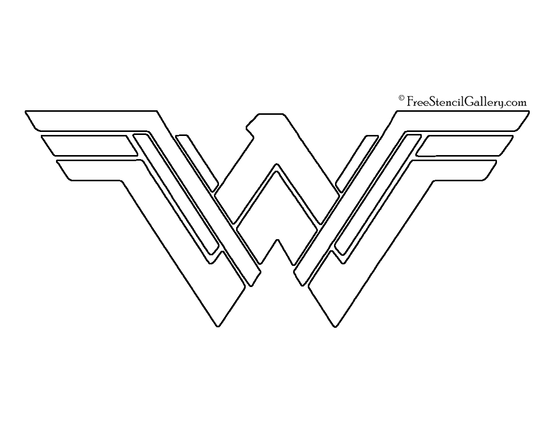 Justice league free stencil gallery wonder woman symbol 02 stencil pronofoot35fo Image collections