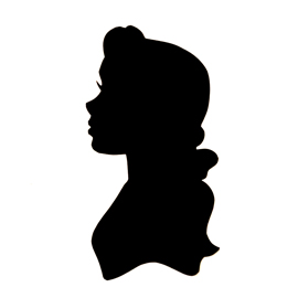Beauty And The Beast Belle Silhouette Stencil Free