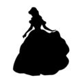Beauty and the Beast - Belle Stencil