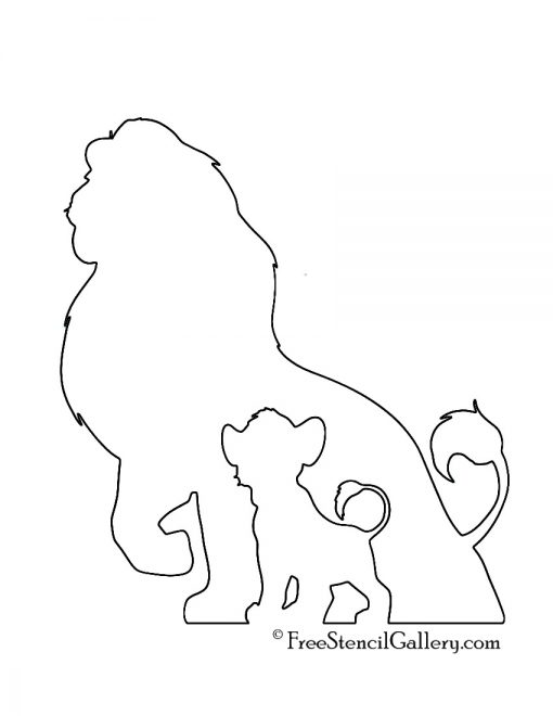 Lion King Stencil