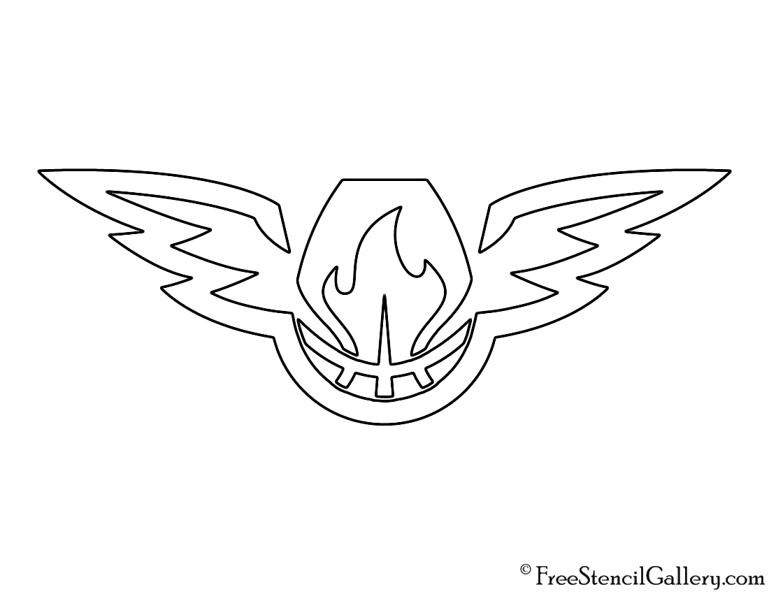 Nba atlanta hawks logo 02 stencil free stencil gallery nba atlanta hawks logo 02 stencil buycottarizona