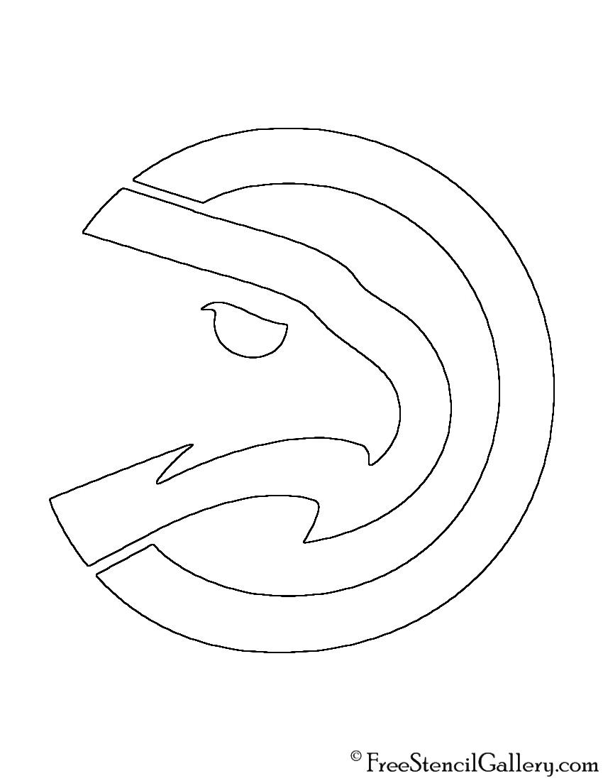 Nba atlanta hawks logo stencil free stencil gallery nba atlanta hawks logo stencil buycottarizona