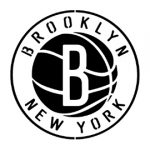 NBA Brooklyn Nets Logo 02 Stencil
