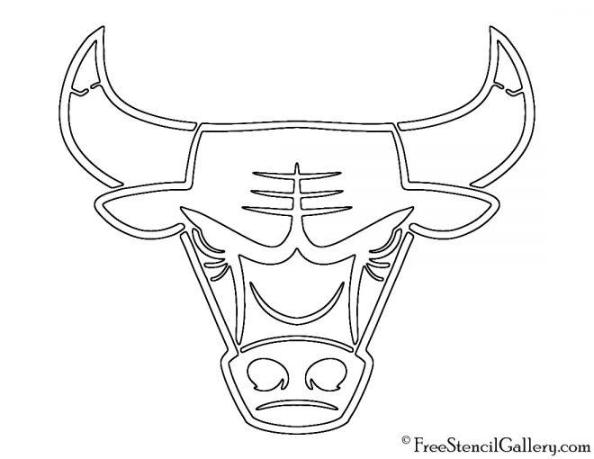 NBA Chicago Bulls Logo Stencil
