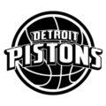 NBA Detroit Pistons Logo Stencil